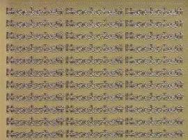 Zier-Sticker-Bogen-Handarbeit-kleine Schrift-gold-447g - Bild vergrößern