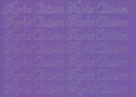 Zier-Sticker-Bogen-0480li-Frohe Ostern-lila - Bild vergrößern