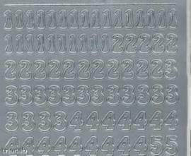 Zier-Sticker-Bogen-Zahlen-silber-815s - Bild vergrößern