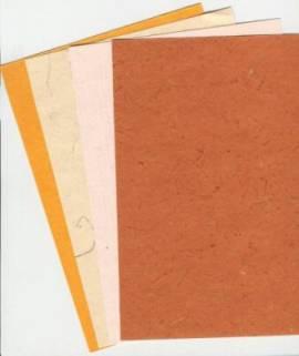 Naturpapier verschiedene Sorten und Farben*A5-Nr.07 - Bild vergrößern