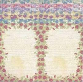 7 x Kartenpapier/Umschläge-Kanban-Rosenmuster-C6-100-013 - Bild vergrößern