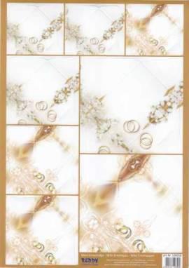 Stanzbogen - Reddy -100658- Mini-Umschläge Hochzeit - Eheringe - Bild vergrößern