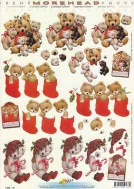 3D Etappen-Bogen-Morehead 186-weihnachtliche Teddybären - Bild vergrößern