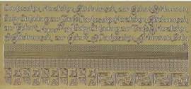 Zier-Sticker-Bogen-2612g-Ränder, Ecken,Texte / Baby, Geburt Taufe-gold - Bild vergrößern