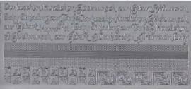 Zier-Sticker-Bogen-2612s-Ränder, Ecken,Texte / Baby, Geburt Taufe-silber - Bild vergrößern