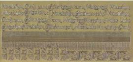 Zier-Sticker-Bogen-2614g-Ränder, Ecken,Texte / z.B.Muttertag, Geburstag-gold - Bild vergrößern