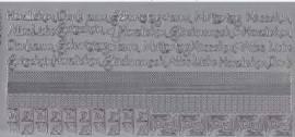 Zier-Sticker-Bogen-2614s-Ränder, Ecken,Texte / z.B.Muttertag, Geburstag-silber - Bild vergrößern