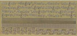 Zier-Sticker-Bogen-2616g-Ränder, Ecken,Texte / Glückwünsche-gold - Bild vergrößern