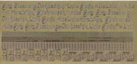 Zier-Sticker-Bogen-2620g-Ränder, Ecken,Texte / Wünsche-gold - Bild vergrößern