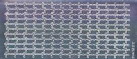 Zier-Sticker-Bogen-2856spfs-Spiegelfolie-Kreuze als Rand-waagerecht-silber - Bild vergrößern