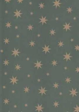 Vario Karton-Motivkarton-5487-50-grün-goldene Sterne-300g/qm - Bild vergrößern