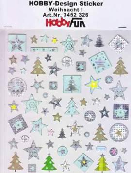 Hobby Design Sticker - HobbyFun 326- Weihnachten I - Bild vergrößern