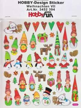 Hobby Design Sticker - HobbyFun 394- Weihnachten VII - Bild vergrößern