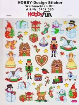 Hobby Design Sticker - HobbyFun 395- Weihnachten VIII - Bild vergrößern