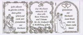 Gravur-Sticker-Bogen-Texte-Glückwünsche & Verse zur Hochzeit -transparent-gold-GR 3894trg - Bild vergrößern