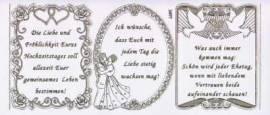 Gravur-Sticker-Bogen-Texte-Glückwünsche & Verse zur Hochzeit -transparent-gold-GR 3897trg - Bild vergrößern