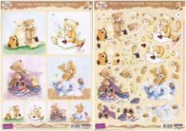 3D Stanzbogenset-Reddy-Popcorn the Bear-Kids 2-899 - Bild vergrößern
