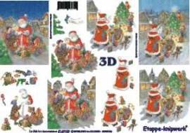 3D Bogen-Etappenbogen-Weihnachtsmann bekommt Wunschzettel-4169109 - Bild vergrößern