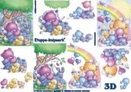 3D Etappen-Bogen Baby-Bär mit Regenbogen-4169289 - Bild vergrößern