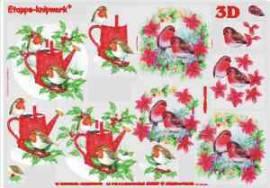 3D-Etappen-Bogen-Rotkehlchen im Schnee-4169349 - Bild vergrößern