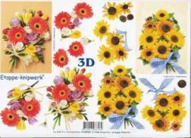3D Etappen-Bogen-4169360-Blumen-Sonnenblumen - Bild vergrößern
