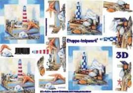 3D Etappen-Bogen-Maritime Deco/Leuchtturm,Muscheln,Sand u.s.w.-4169365 - Bild vergrößern