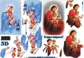 3D Etappen-Bogen-Jesus-Maria mit Kind 4169384 - Bild vergrößern