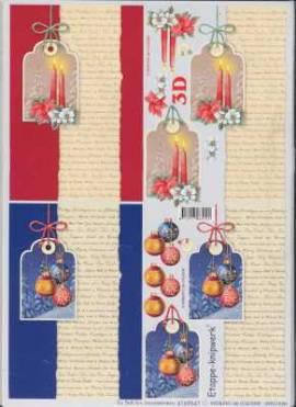 3D Bogen-Etappenbogen-Weihnachtsanhänger mit Hintergrund-4169547 - Bild vergrößern