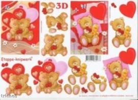 3D Etappen-Bogen-Teddy mit Herzchen-4169658 - Bild vergrößern