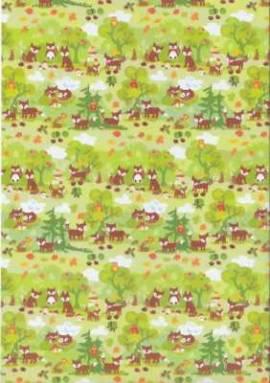 Marpa Jansen-Transparentpapier Nobless-5647-00-Füchse - Bild vergrößern