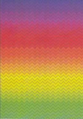 Marpa Jansen-Transparentpapier Nobless-5747-00-Regenbogen zickzack - Bild vergrößern