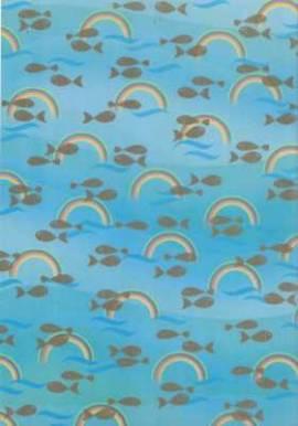 Marpa Jansen-Transparentpapier Nobless-8206-98-Christliche Motive-Regenbogen/Fisch-gold - Bild vergrößern