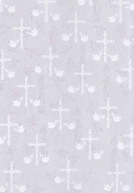 Marpa Jansen-Transparentpapier Nobless-8226-02-Christliche Motive-Kreuze-weiß - Bild vergrößern