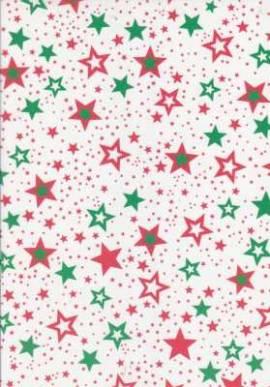 Marpa Jansen-Transparentpapier Nobless-8947-25-Sternchen-rot/grün - Bild vergrößern