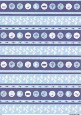 Vario-Passepartout-9267-30-Bordüre-Kommunion / Konfirmation / Taufe-blau - Bild vergrößern