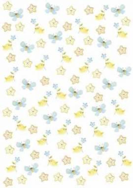 Artoz - Crea Motions- Designkarton-268-selbstklebend-Baby - Stern -blau / gelb - Bild vergrößern