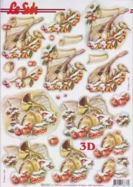 3D Stanzbogen-LeSuh 680059-Weihnachten - Musik - Bild vergrößern