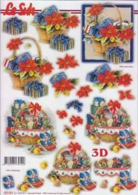 3D Stanzbogen-LeSuh 680064-Weihnachten - Geschenkekorb - Bild vergrößern