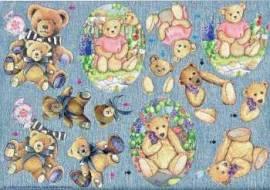 Dufex-3D-Bogen-Teddybären-gravierte Motive-Alu-beschichtetes Papier-740310 - Bild vergrößern