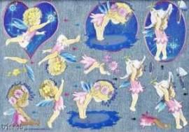 Dufex-3D-Stanzbogen-750510-niedliche Elfen-gravierte Motive-Alu-beschichtetes Papier - Bild vergrößern