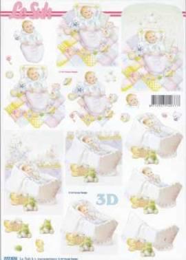3D Bogen Baby/Geburt/Wiege/Steckkissen-777576 - Bild vergrößern