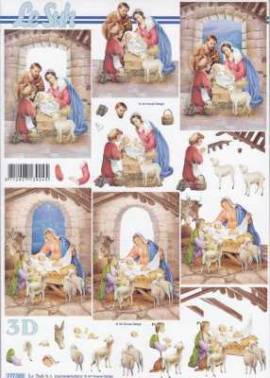 3D Bogen-Etappenbogen-Krippe-777583 - Bild vergrößern