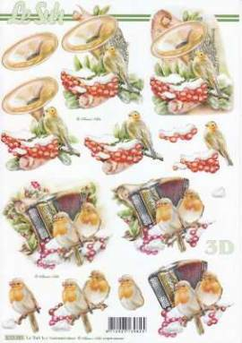 3D Bogen-Etappenbogen-Weihnachten - Rotkehlchen - Musik - 8515685 - Bild vergrößern