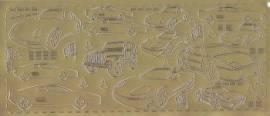 Zier-Sticker-Bogen-Autos-gold-8235g - Bild vergrößern
