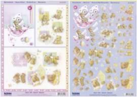 3D Stanzbogen-Set - Reddy - 83574 - Baby-Bärchen - Bild vergrößern