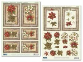3D Stanzbogen-Set -Reddy-83736-Weihnachtsblumen im Rahmen - Bild vergrößern