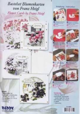 Reddy Cards-Kartenset Franz Heigl- 83861 -Blumenkarten-Clematis, Lilien, Winden - Bild vergrößern
