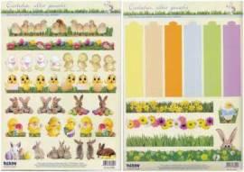 3D Stanzbogen-Set - Reddy - 83894 - für 6 Eierbecher-klassiche Ostermotive - Bild vergrößern