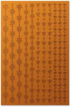 Mini-Zier-Sticker-Bogen-Spiegelfolie-Bordüren-orange-83897 - Bild vergrößern