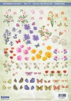 3D Stanzbogen-Set - Reddy - 84041 - kleine Blumen und Blüten - Bild vergrößern